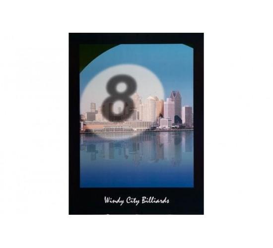 "Poster ""Windy City Billiards"""