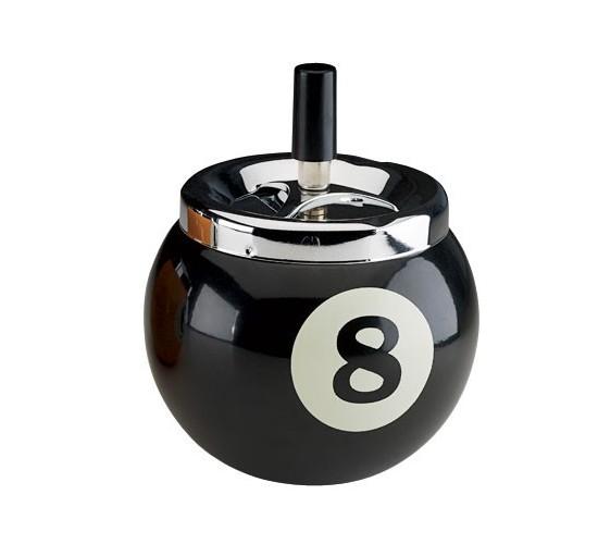 Cendrier boule de billard n° 8