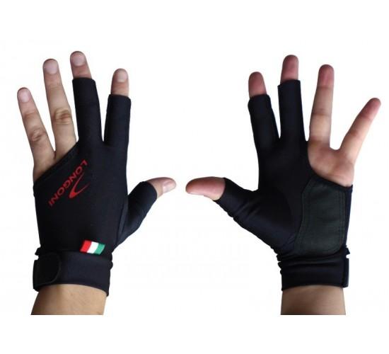 Gant LONGONI Black Fire noir à doigts coupés