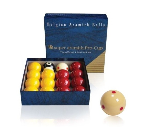 Billes de 8-pool Super ARAMITH Pro-Cup - 50.8 mm