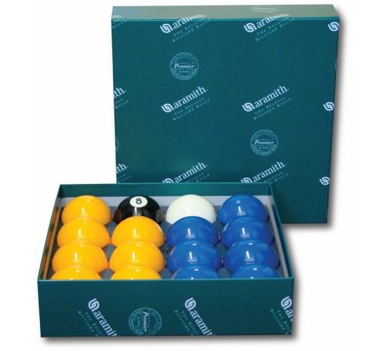 Billes de 8-pool Casino ARAMITH Premier bleues et jaunes - 57.2 mm