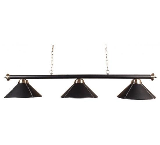 Luminaire ELEGANCE noir - 3 globes cuir noir