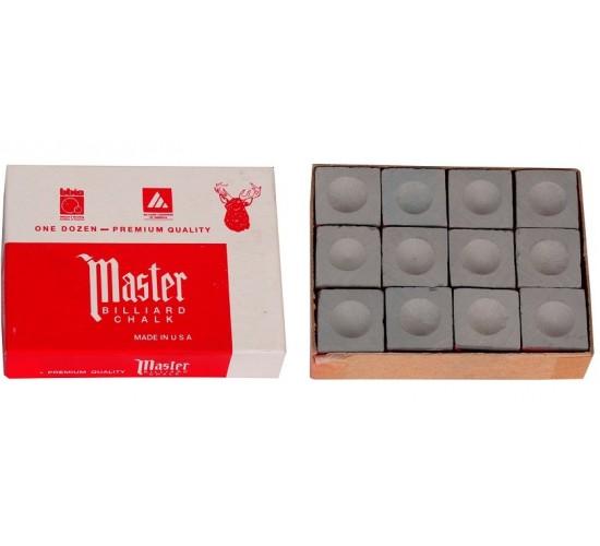 Boîte de 12 craies Master grise  craie pour queue de billard