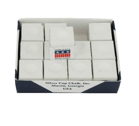 Boîte de 12 craies SILVER CUP - blanc