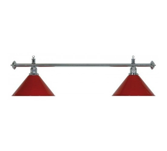 Luminaire ELEGANCE métal - 2 globes rouges