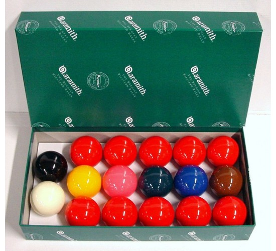 Billes de snooker ARAMITH Premier - 50.8 mm (17 billes)