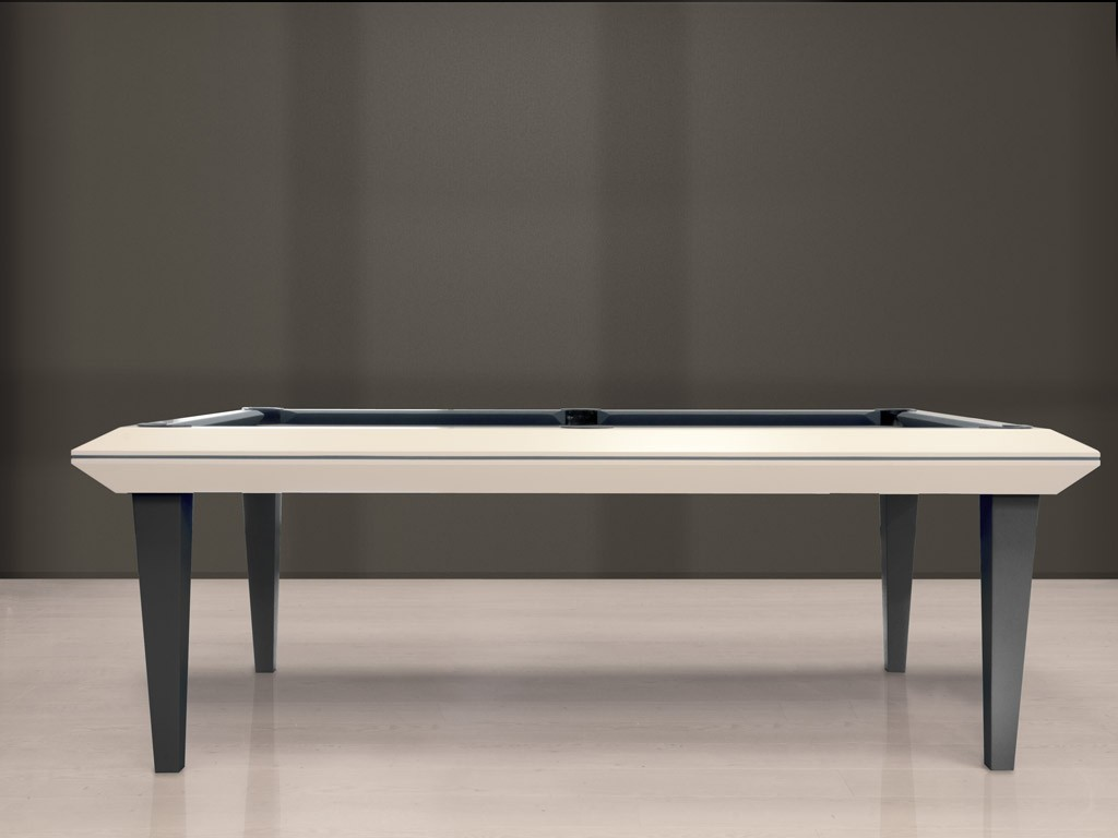Billard table design quartz laqu inox eurobillards - Table et billard a la fois ...