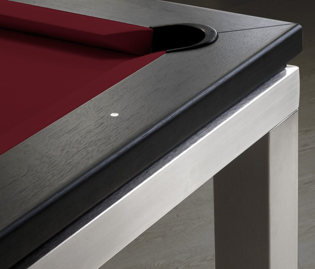 billard contemporain new tendance table inox eurobillards. Black Bedroom Furniture Sets. Home Design Ideas