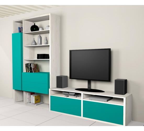 Ensemble meuble mural et TV