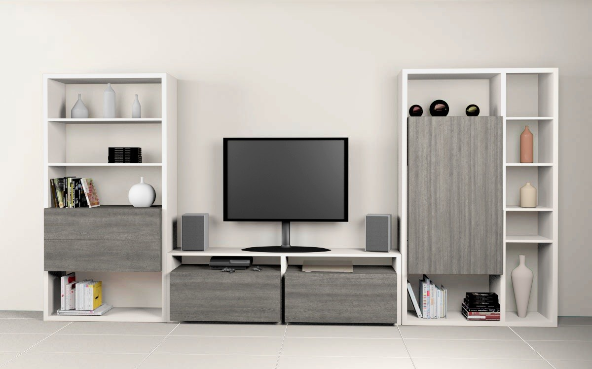 Meuble Tv Avec Bibliothèque meuble bibliothèque et tv - composition 2 - eurobillards
