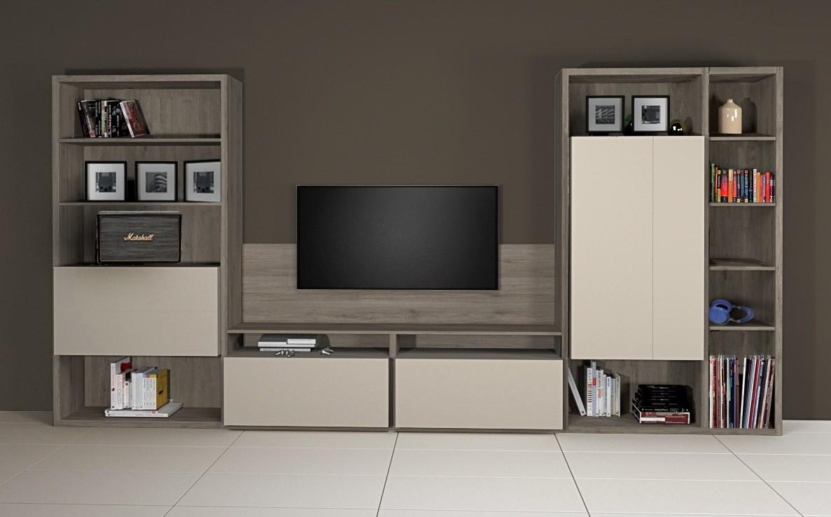 Meuble bibliothèque et TV - composition 2