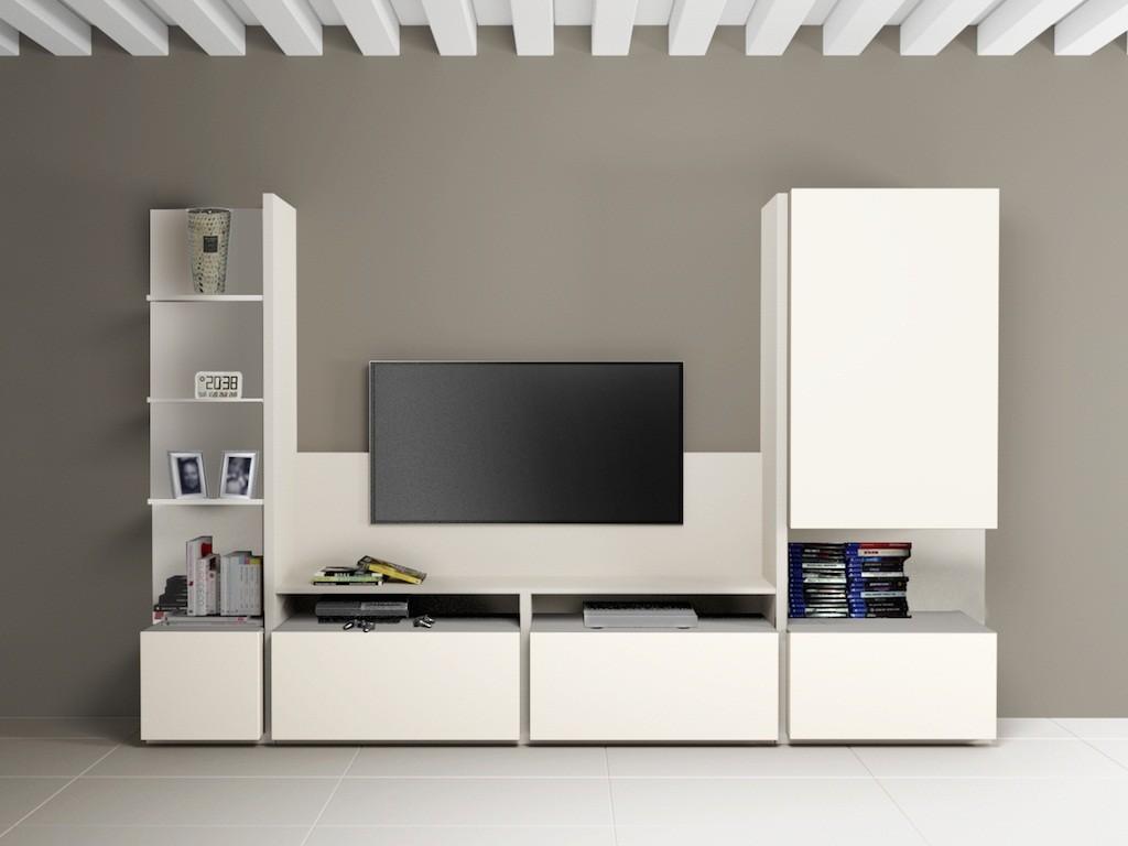 Meuble bibliothèque et TV - composition 3