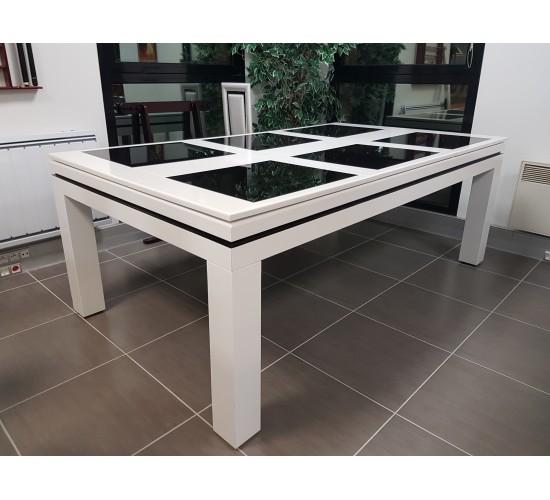Billard NEW-TENDANCE blanc 2.10 m, plateau table SV