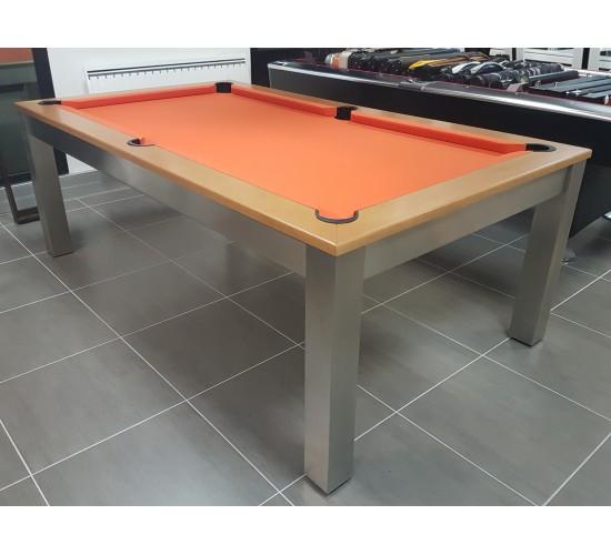 Billard STEEL-TENDANCE avec tapis orange