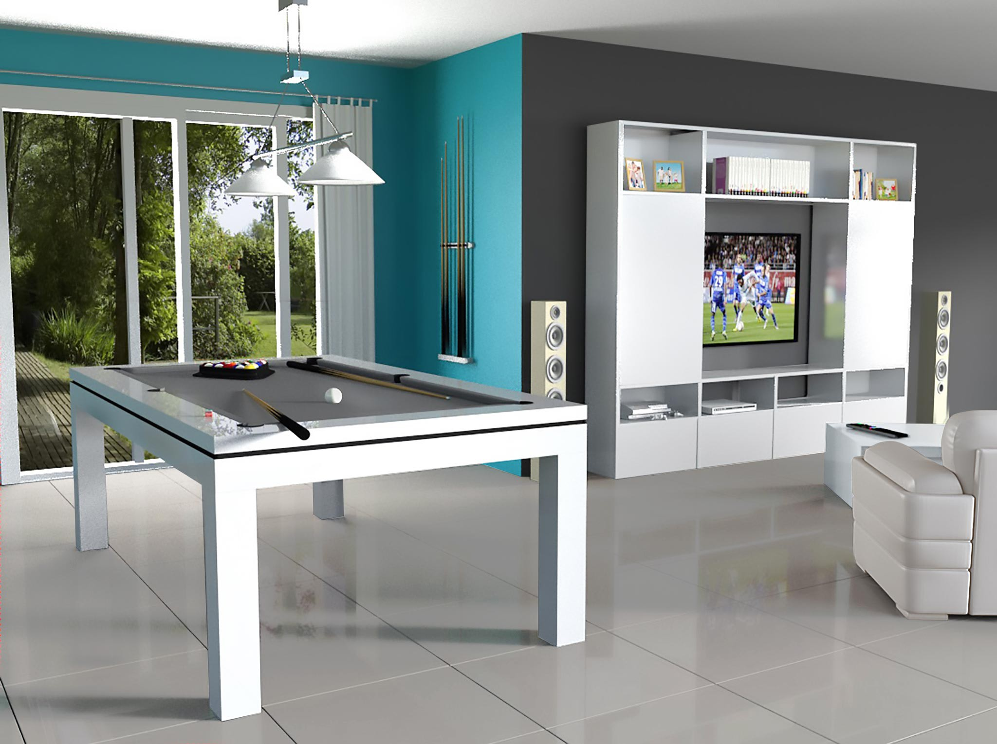 billard table novea - billard contemporain - eurobillards