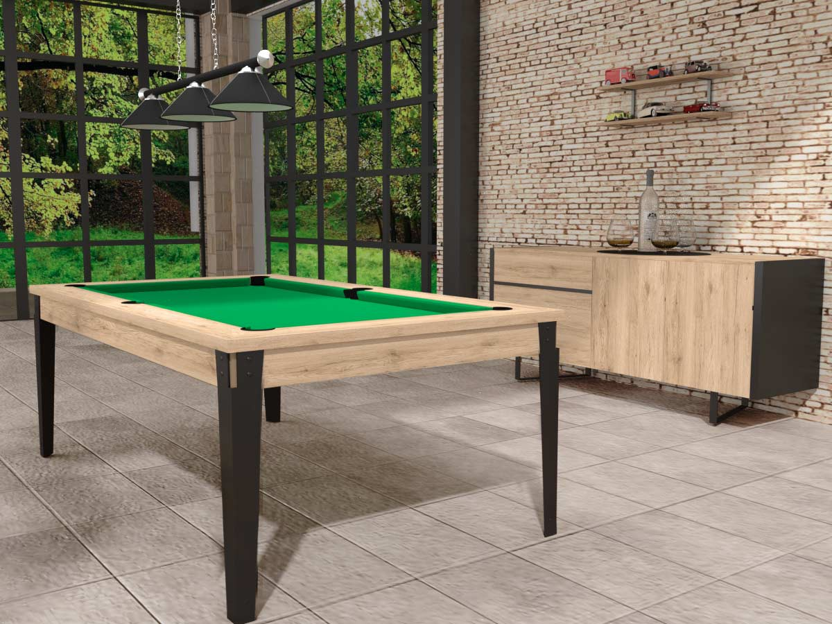 billard table factory pieds m tal style industriel. Black Bedroom Furniture Sets. Home Design Ideas