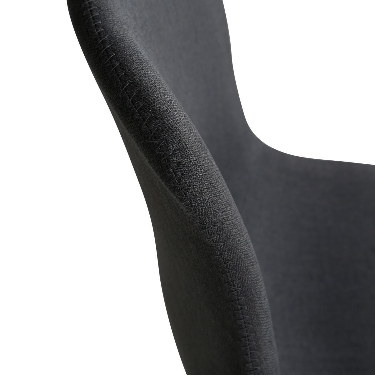 Chaise Carl - dos tissu gris