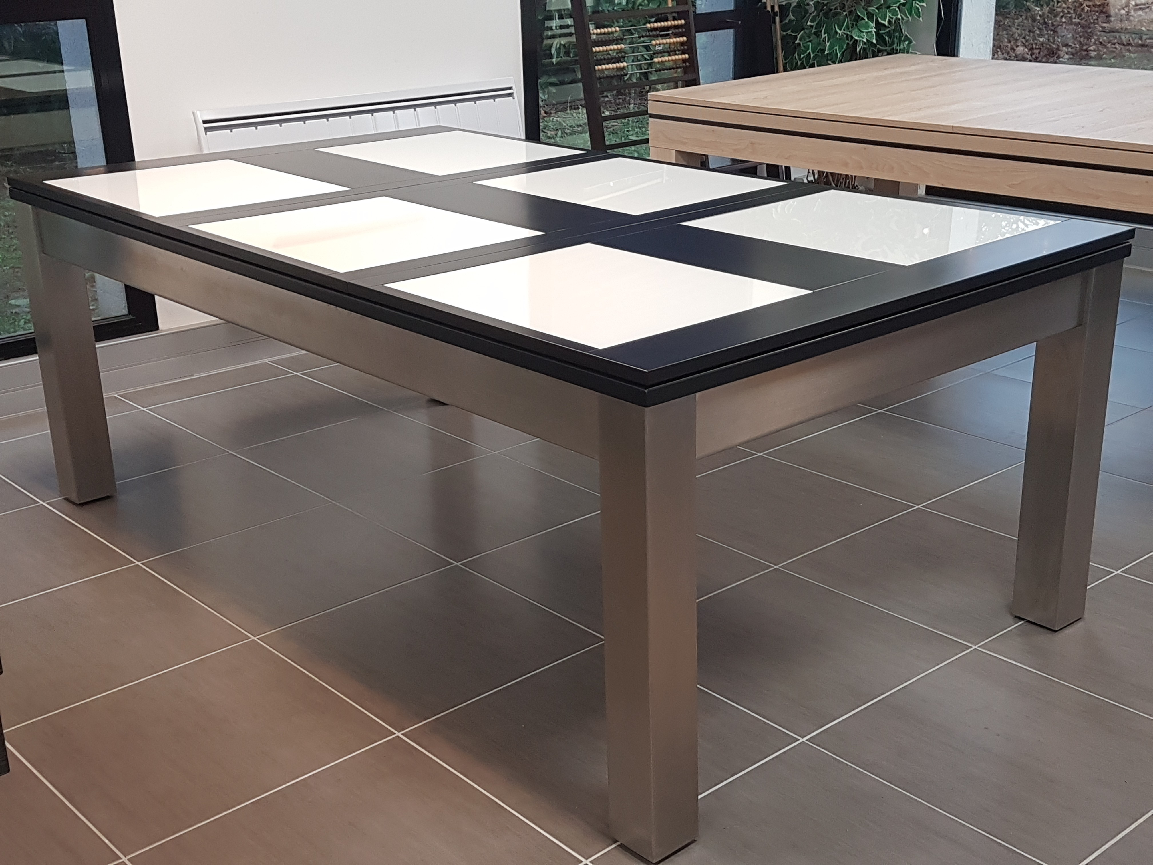 Billard table STEEL-TENDANCE avec plateau SV