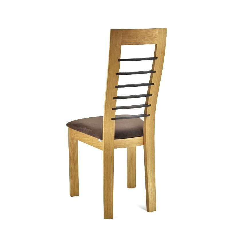 Chaise Cannelle chêne naturel avec noir de dos - assise Carabu 72