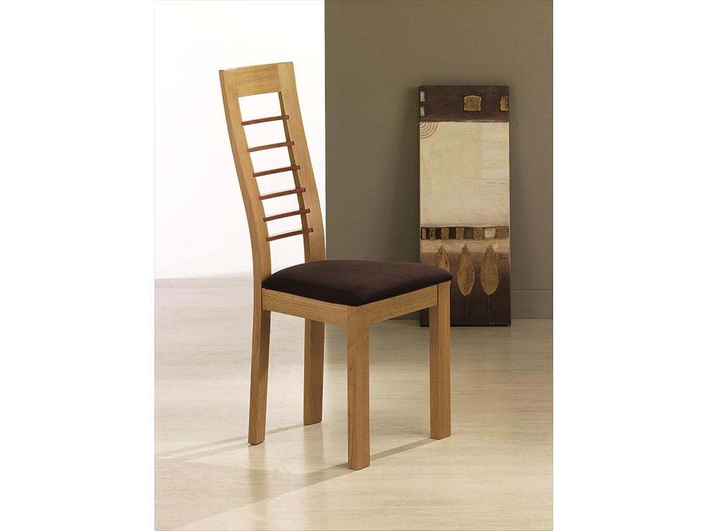Chaise Cannelle chêne naturel avec chêne - assise Carabu 72