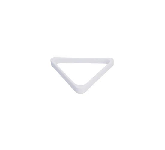 Triangle bois pour billes 57.2 mm - blanc