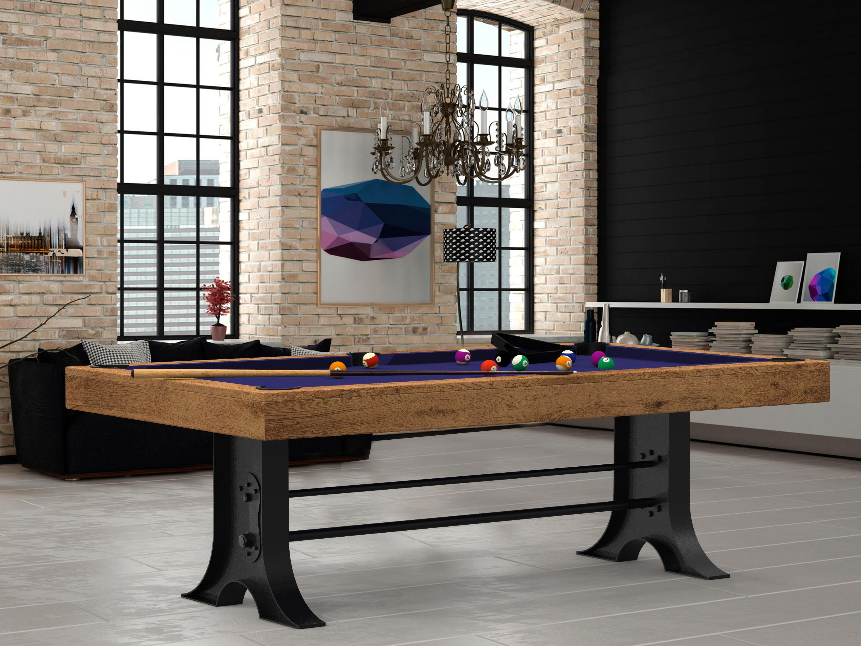 Billard atelier style industriel billard transformable - Billard transformable en table ...