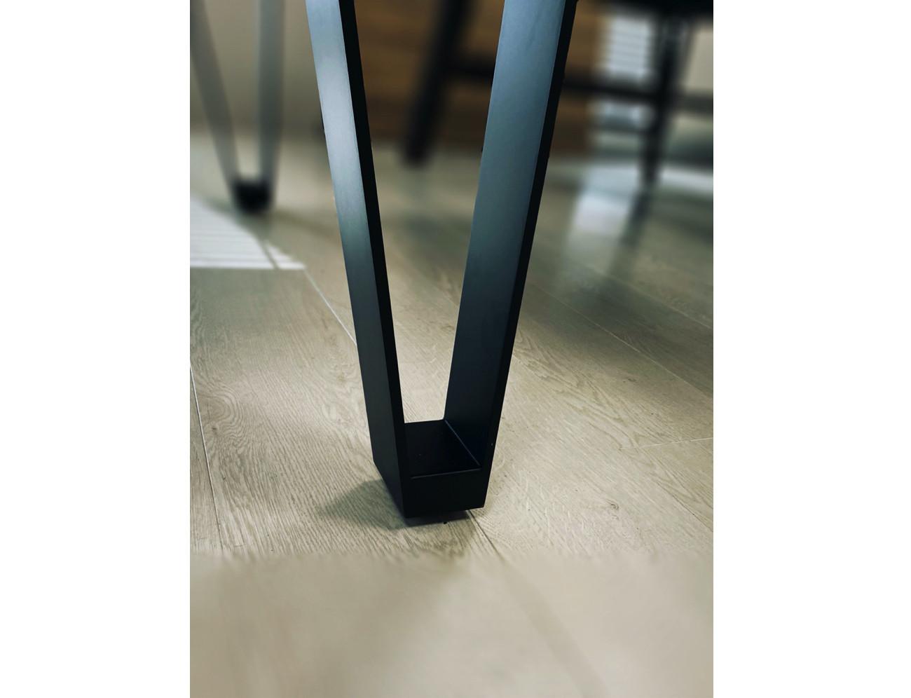 Billard LIGHT Zoom sur pied acier noir