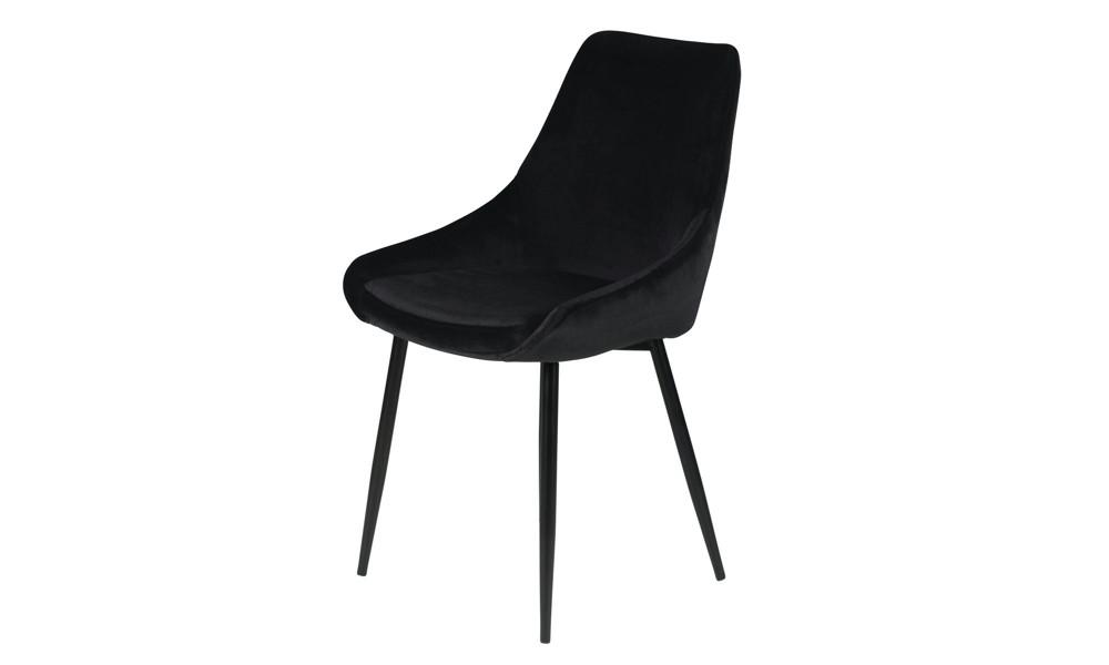 Chaise BARI velour noir