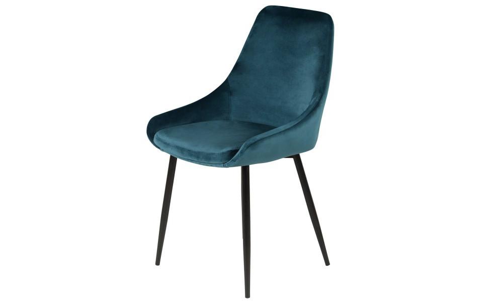 Chaise BARI velour bleu