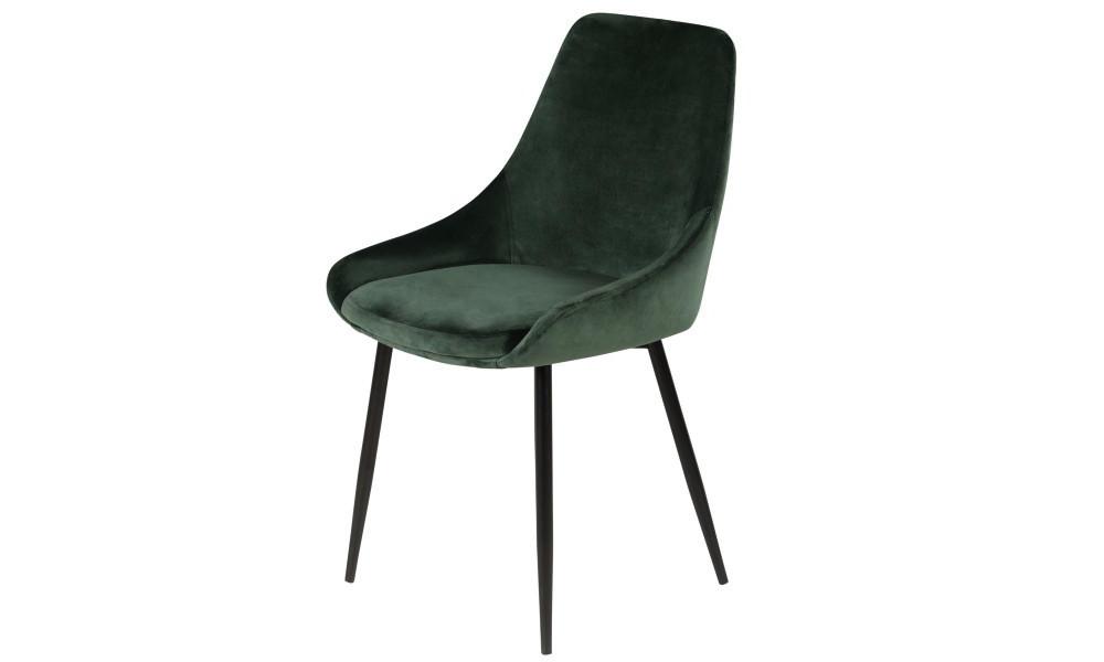 Chaise BARI velour vert