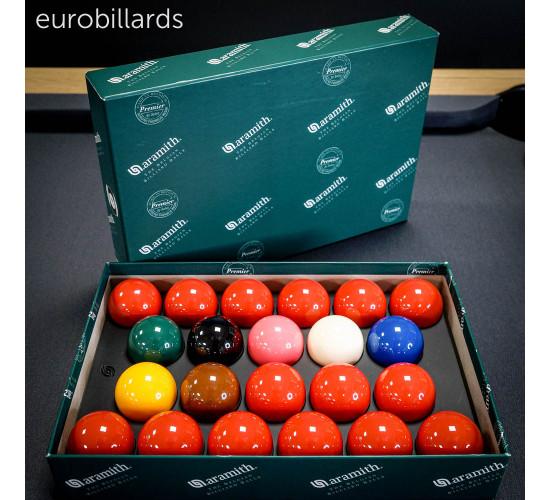 Billes de snooker ARAMITH Premier en boite standard de 22 billes de 52.4 mm
