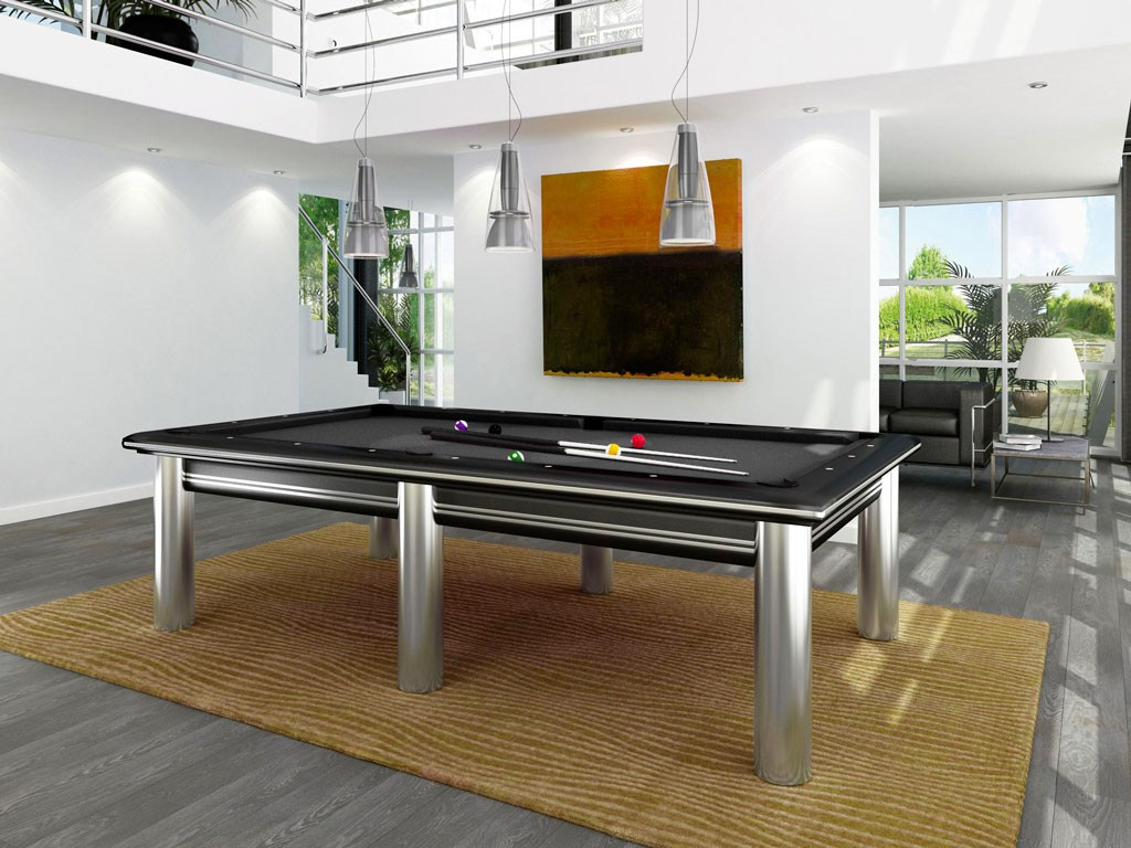 table billard steel design acier inoxydable eurobillards. Black Bedroom Furniture Sets. Home Design Ideas