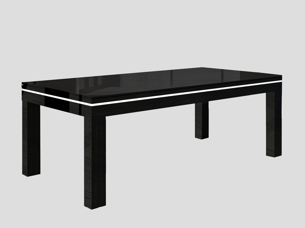 Billard table moderne NOVEA. Billard noir avec liseré blanc, plateau table ST