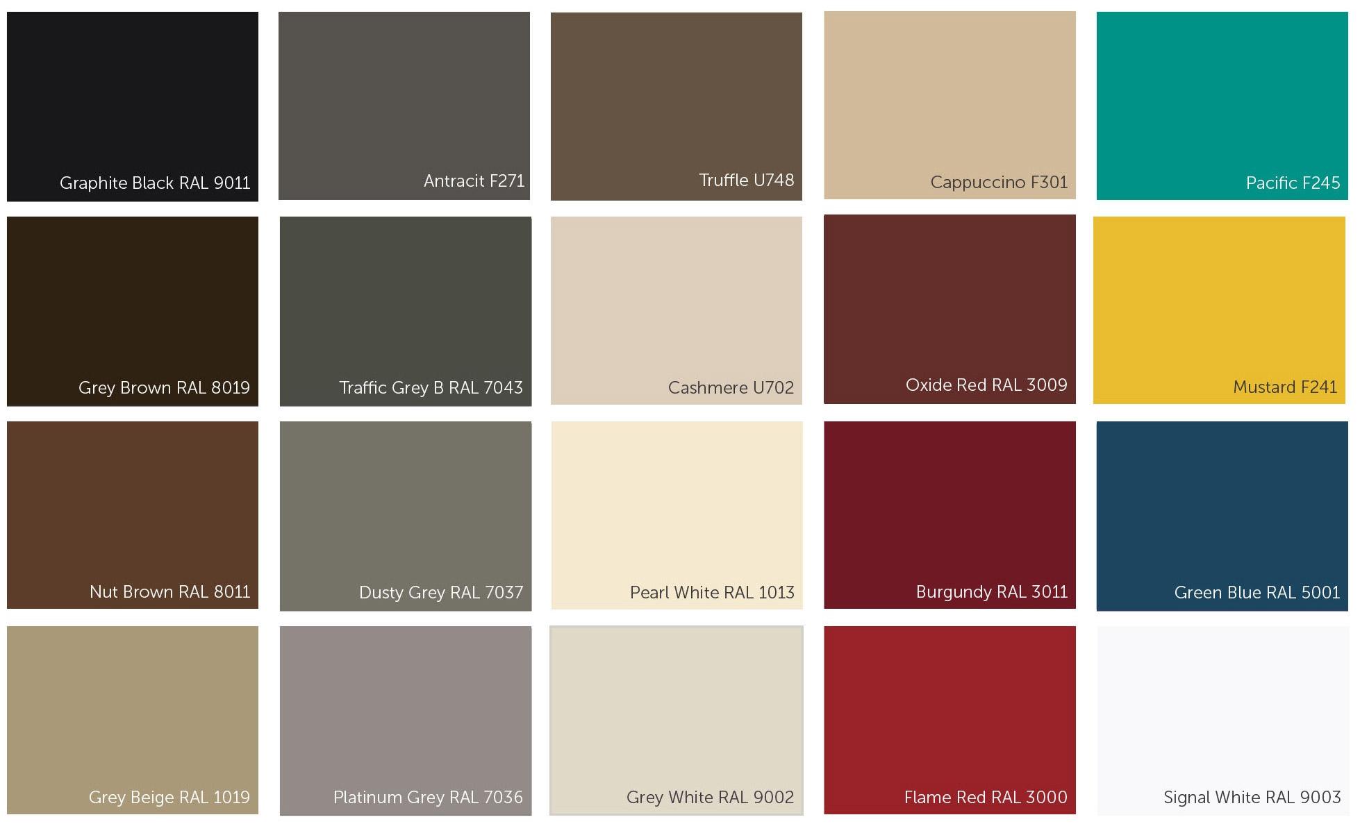 Exemples de couleurs laquées