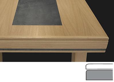 Table LB en chêne et béton