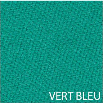 tapis de billard vert-bleu